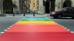 zebra crossing rainbow
