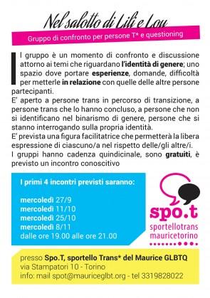 NEL SALOTTO DI LILI E LOU: Gruppo di confronto per persone T* e questioning @ Maurice | Torino | Piemonte | Italia