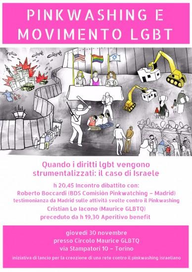 Pinkwashing e movimento lgbt. Quando i diritti lgbt vengono strumentalizzati: il caso di Israele @ Maurice | Torino | Piemonte | Italia
